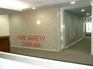 Sd60gs 1hr Fire Protective Smoke Curtain With Egress