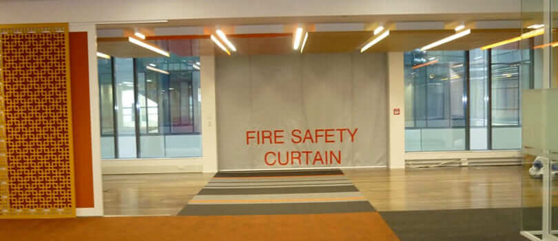 SD60GS 1hr Fire Protective Smoke Curtain with Egress - SD60GS_1HR