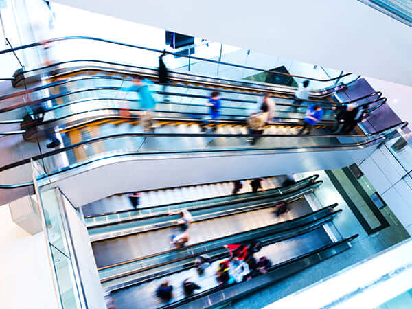 Ul Certified Smoke And Fire Curtains For Escalators Stairs